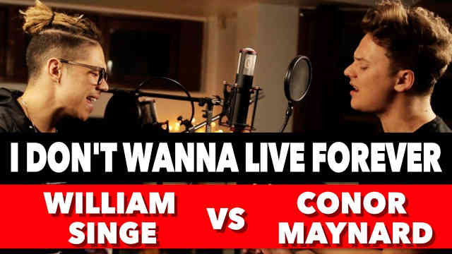 Conor Maynard VS William Singe (Sing Off) – I Don't Wanna Live Forever Reaction Pt.2 #Thoughts