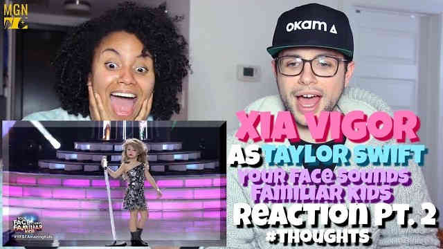 Xia Vigor as Taylor Swift (Your Face Sounds Familiar Kids) Reaction Pt.2 #Thoughts
