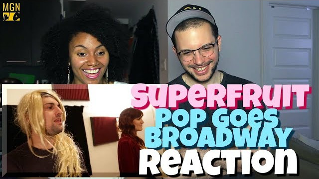 SUPERFRUIT – POP GOES BROADWAY (feat. Shoshana Bean) | REACTION
