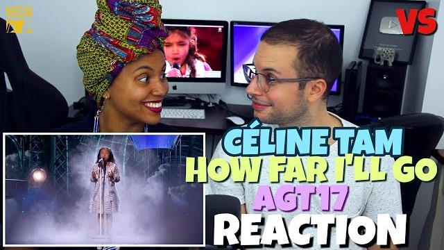 Celine Tam – How Far I'll Go | America's Got Talent 2017 | VS | REACTION