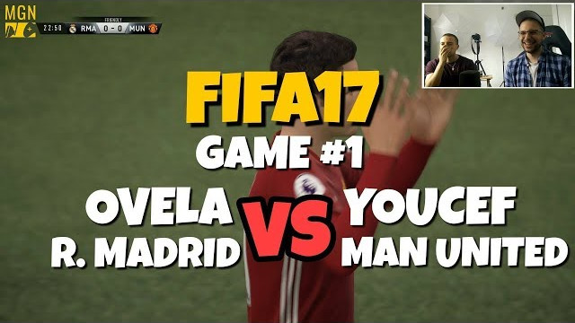 FIFA 17 – Game #1 – Ovela VS His Brother (Youcef) | Real Madrid VS Man United